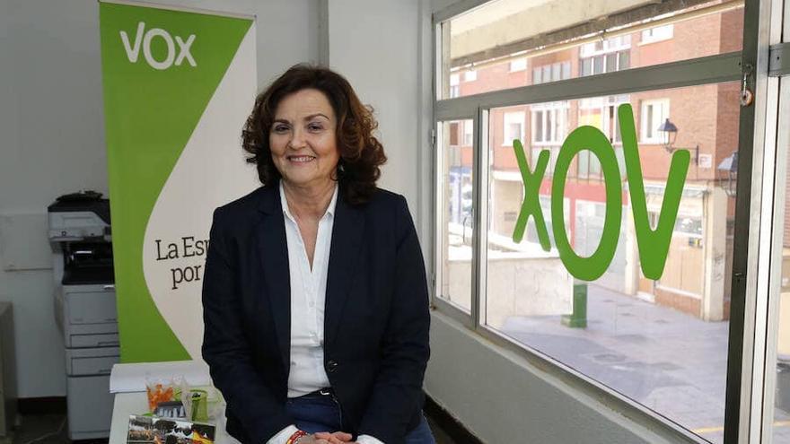 Sonia Lalanda, candidata de Vox Palencia, en una imagen de campaña