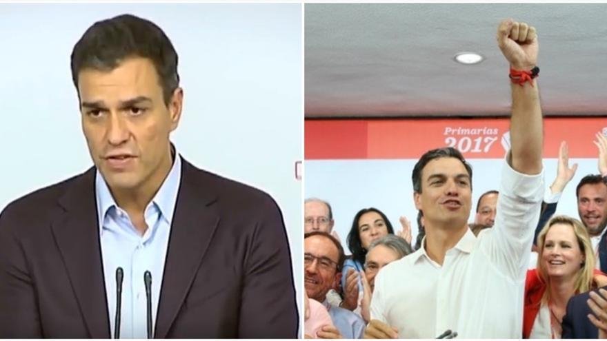 Pedro Sánchez, en octubre y en mayo