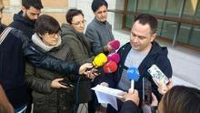 David Llorente comparece después de las primarias de Podemos