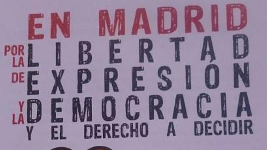 Nuevo cartel del acto pro referéndum en Madrid