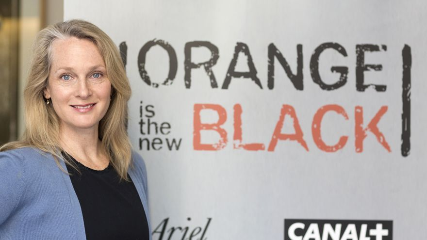 Piper Kerman, durante su visita a España para presentar 'Orange is the New Black' / Canal Plus