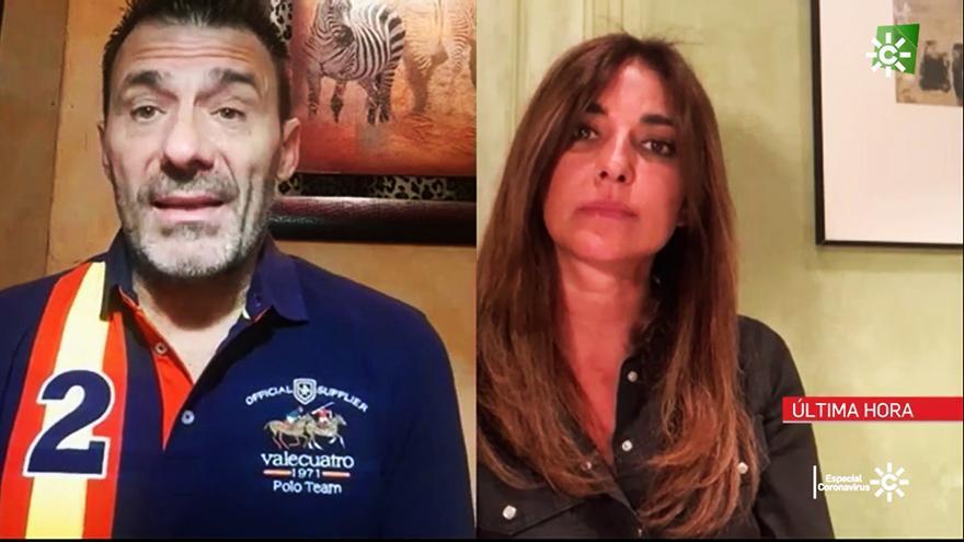 Alfredo Perdiguero con Mariló Montero en Canal Sur Noticias
