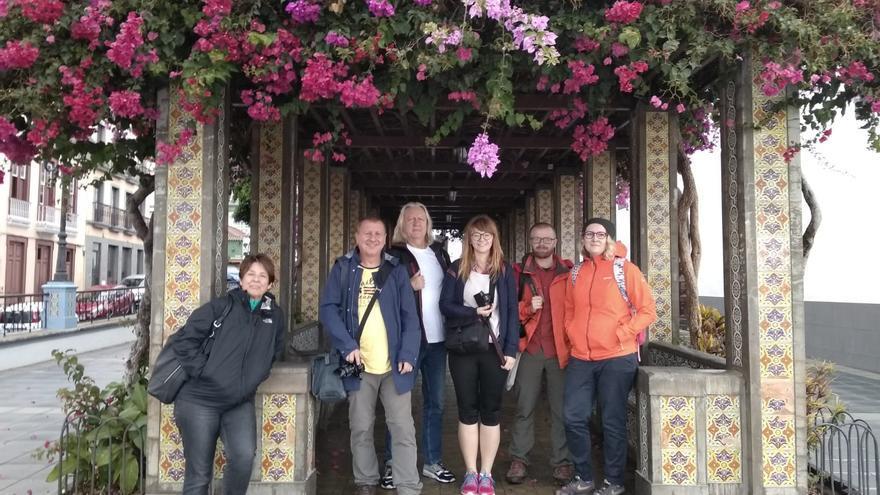 El grupo de periodistas que han visitado La Palma.