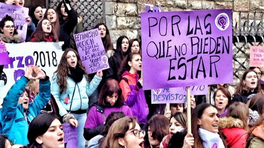 Manifestación del 8M en León en 2018