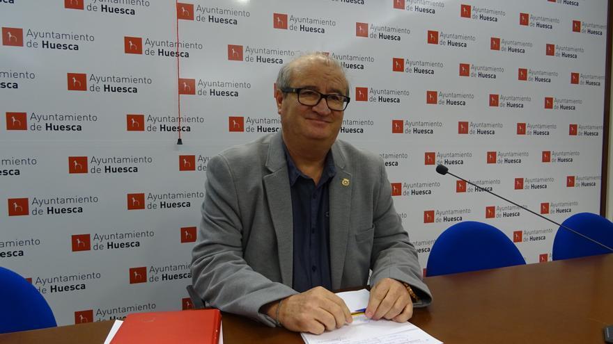 El concejal de Hacienda del Ayuntamiento de Huesca, José María Romance