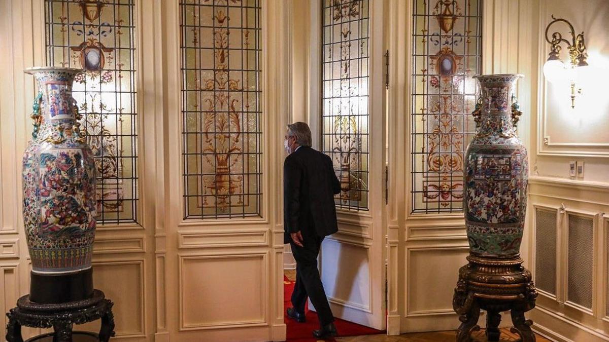 Alberto Fernández en Casa Rosada