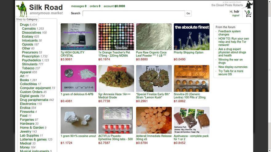 Silk Road es un mercado online anónimo donde puedes encontrar multitud de productos y servicios (Imagen: Silk Road)