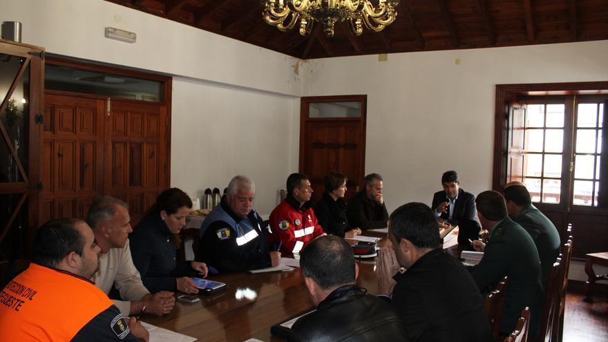 Reunión de la Junta Local de Seguridad en Tegueste.