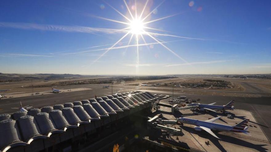 En la imagen, vista desde la torre de control aéreo del Aeropuerto Adolfo Suárez Madrid-Barajas.