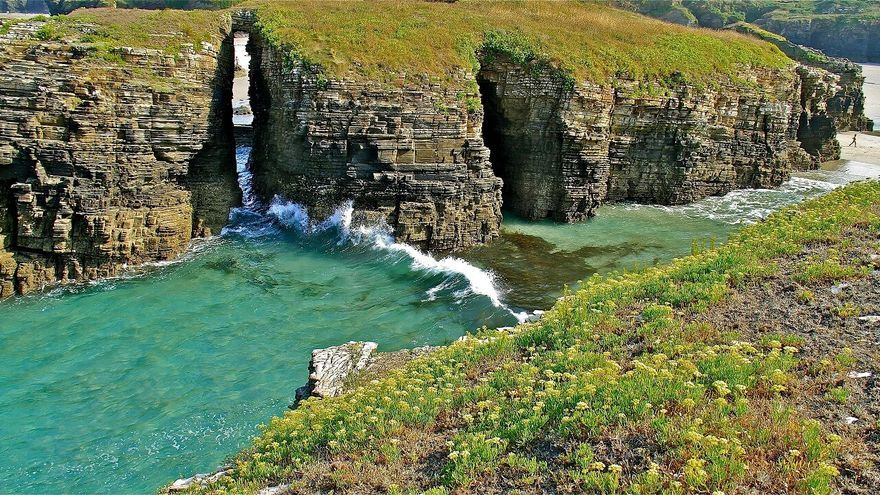 Praia de Illas en Ribadeo (Lugo, Galicia)