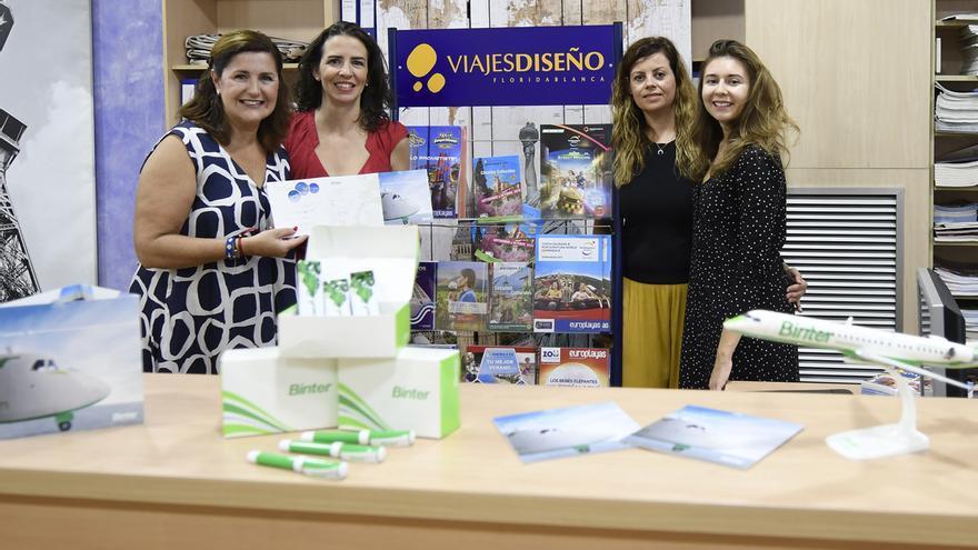 Agentes de Viaje en Murcia con comerciales de Binter.