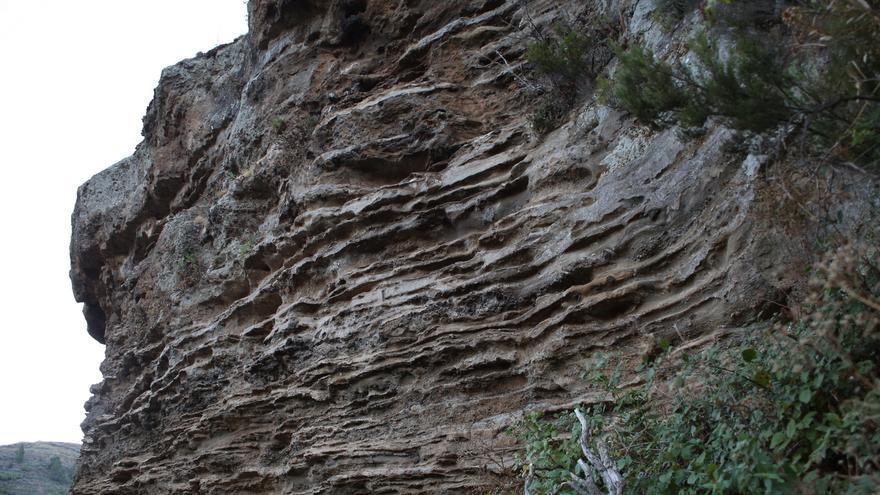 Capas de sedimentos en Barranco Hondo (ALEJANDRO RAMOS)