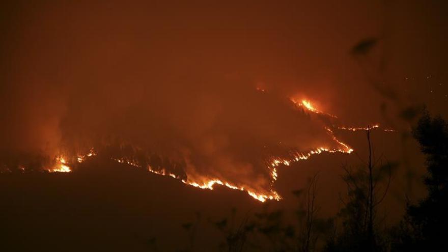 Imagen del incendio de Cotobade, el más grande de los registrados hasta ahora en Galicia