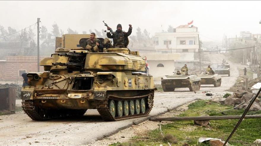 El Ejército avanza por las regiones al sur de Damasco en una gran ofensiva