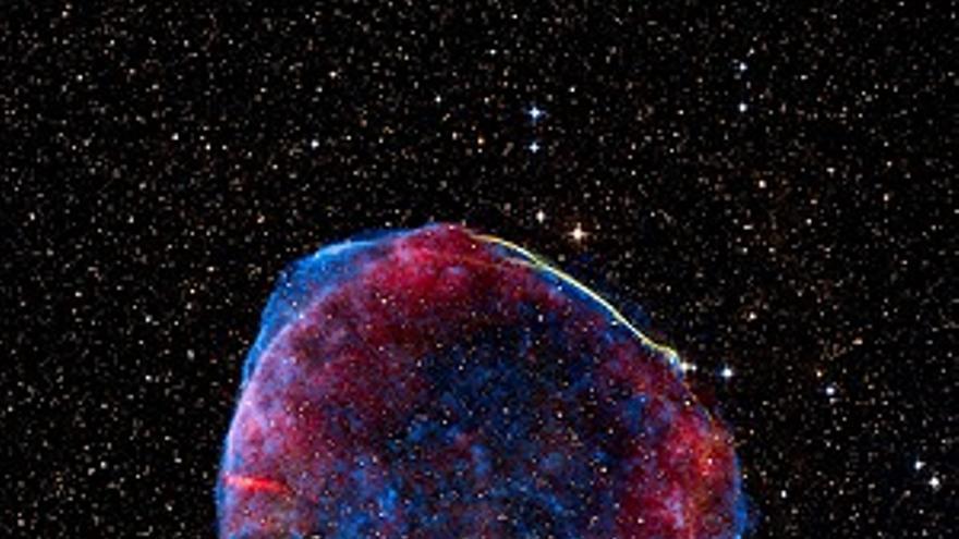Imagen del remanente de la supernova SN 1006 localizado a, aproximadamente, 7.000 años luz de la Tierra. (NASA).