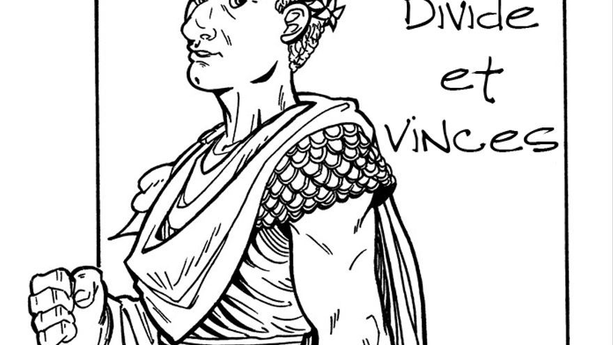 Dibujo de Julio César /Fuente: http://horusart.deviantart.com/
