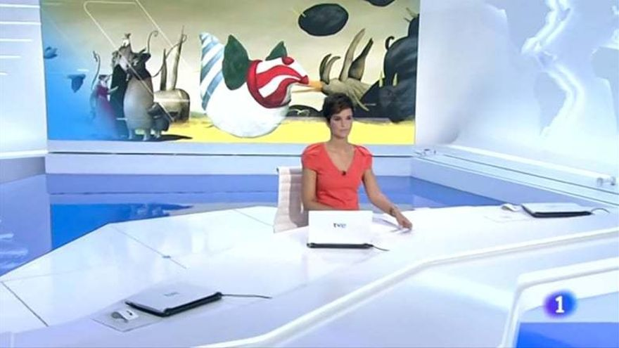 Paula Sainz-Pardo en el Telediario de La 1