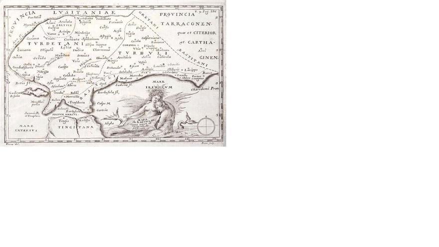 Mapa de la Bética, de Ptolomeo