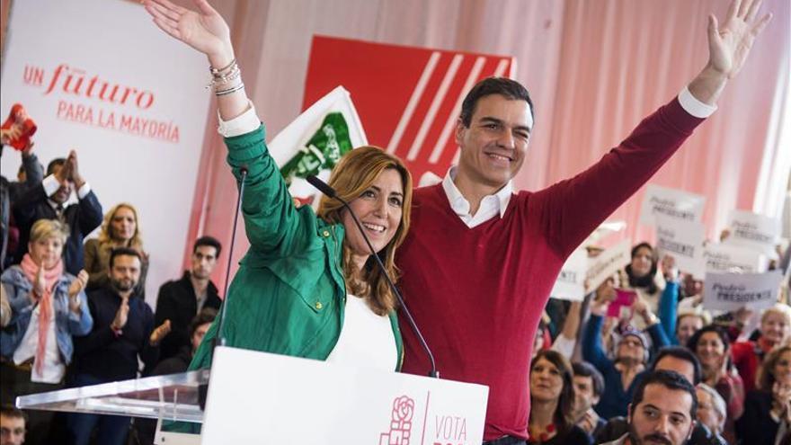 Sánchez y Díaz se unen para cimentar en Andalucía la victoria del PSOE el 20D