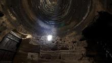 Bóveda de más de cuatro metros de altura en Risco Caído. (Cabildo GC).