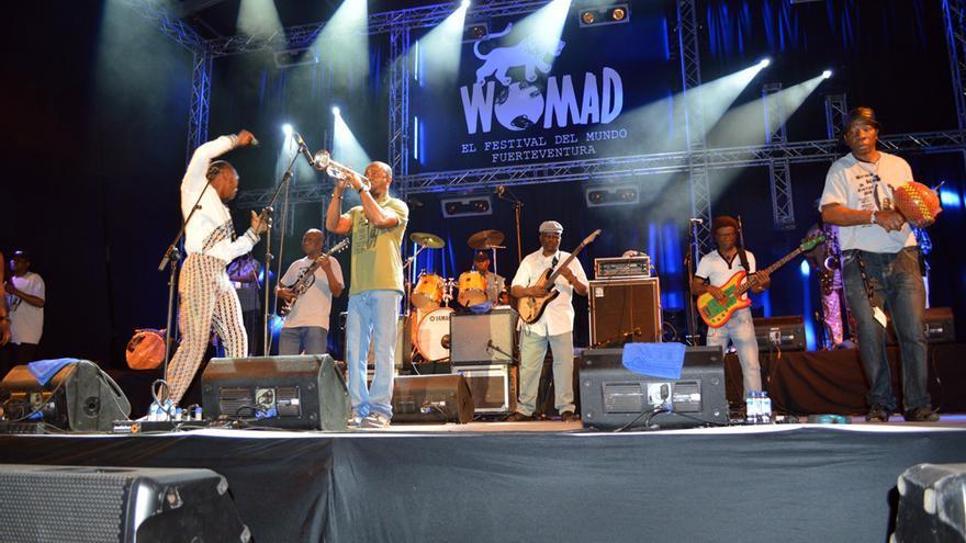 Actuación de Seun Kuti & Egypt 80 durante el Womad Fuerteventura 2014 | Iago Otero Paz