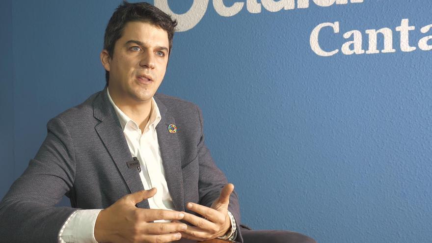 Daniel Fernández, portavoz del PSOE de Santander.