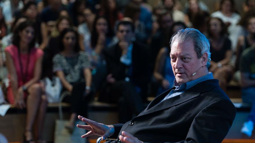 Paul Auster durante la presentación. Fundación Telefónica.