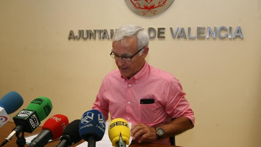 Joan Ribó se ha quejado del trato a Valencia en los Presupuestos del Estado