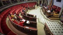 El pleno de este jueves con la ausencia de la mayoría de concejales por las medidas de seguridad impuestas para evitar contagios