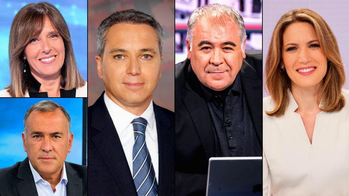 Presentadores de los programas especiales que emitirán las principales cadenas de TV