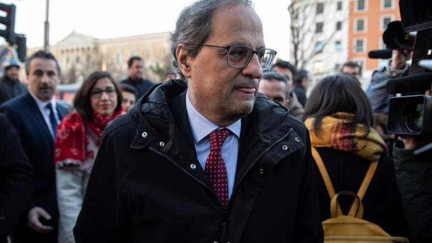 """Torra aborda el juicio del """"procés"""" con el presidente de Flandes"""