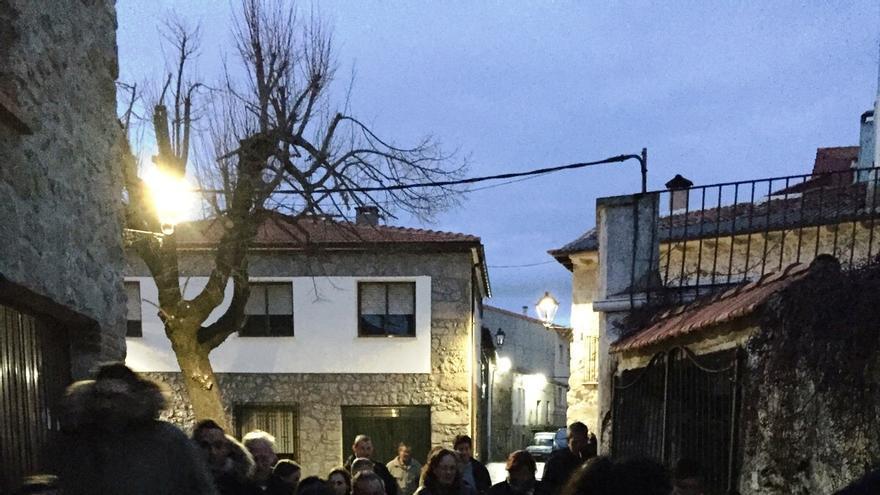 Imagen de la manifestación que protagonizaron los vecinos de Piornal este pasado lunes
