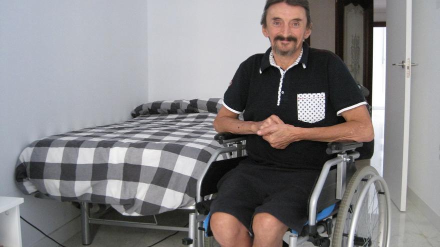 Alejandro, en su habitación de Espacio Salud.