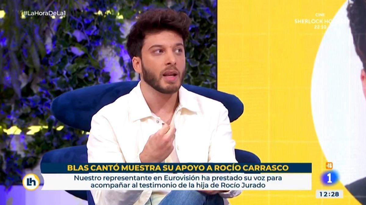Blas Cantó, durante su visita a 'La hora de La 1'