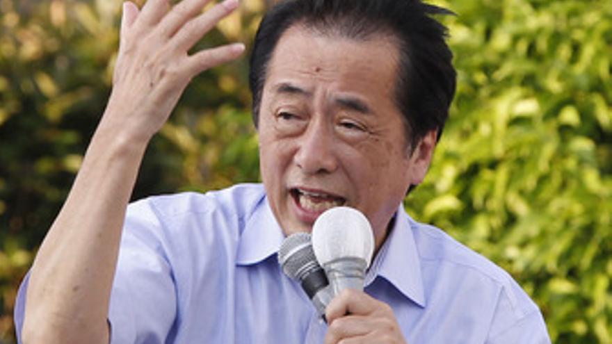 Naoto Kan, primer ministro japonés