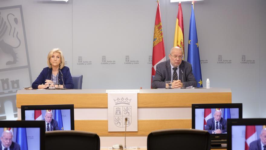 La consejera de Sanidad, Verónica Casado, y el vicepresidente de la Junta de Castilla y León, Francisco Igea, en una imagen de archivo.