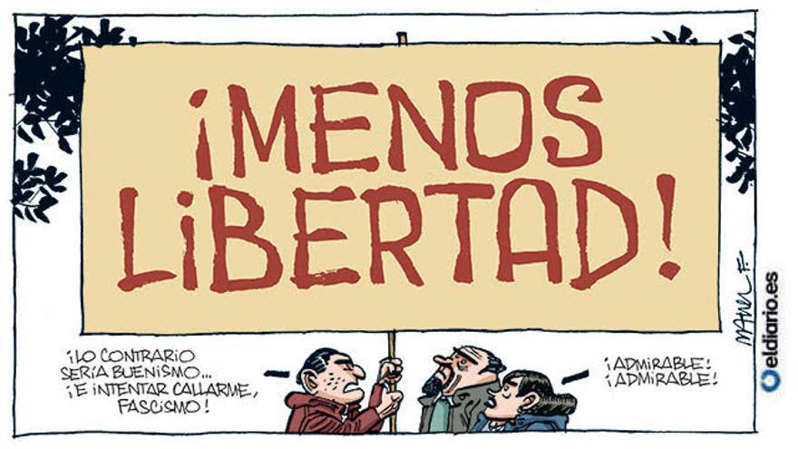 Menos libertad