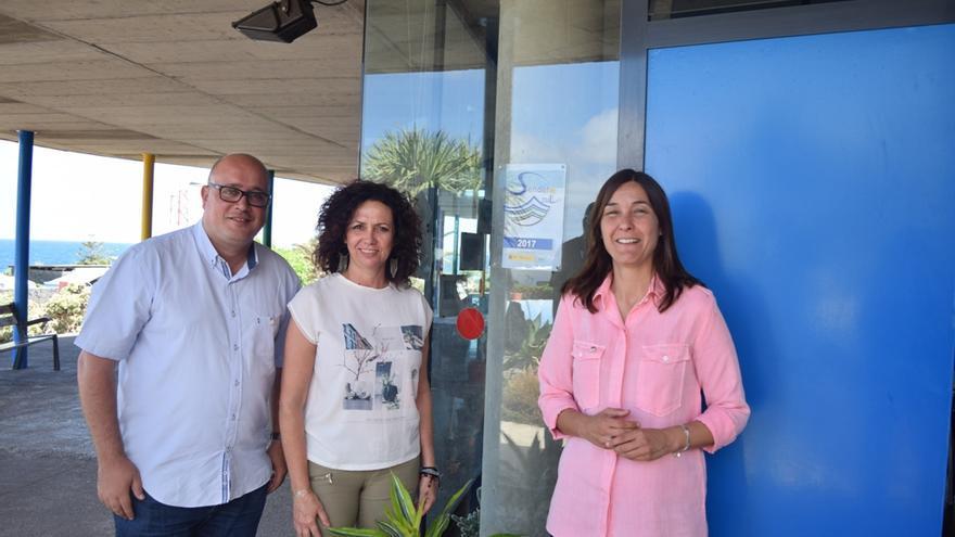 Zebenzuí González, María José Castañeda y Mónica Martín, en una imagen de archivo