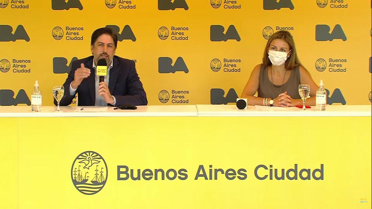 Conferencia de prensa de los ministros Trotta y Acuña.