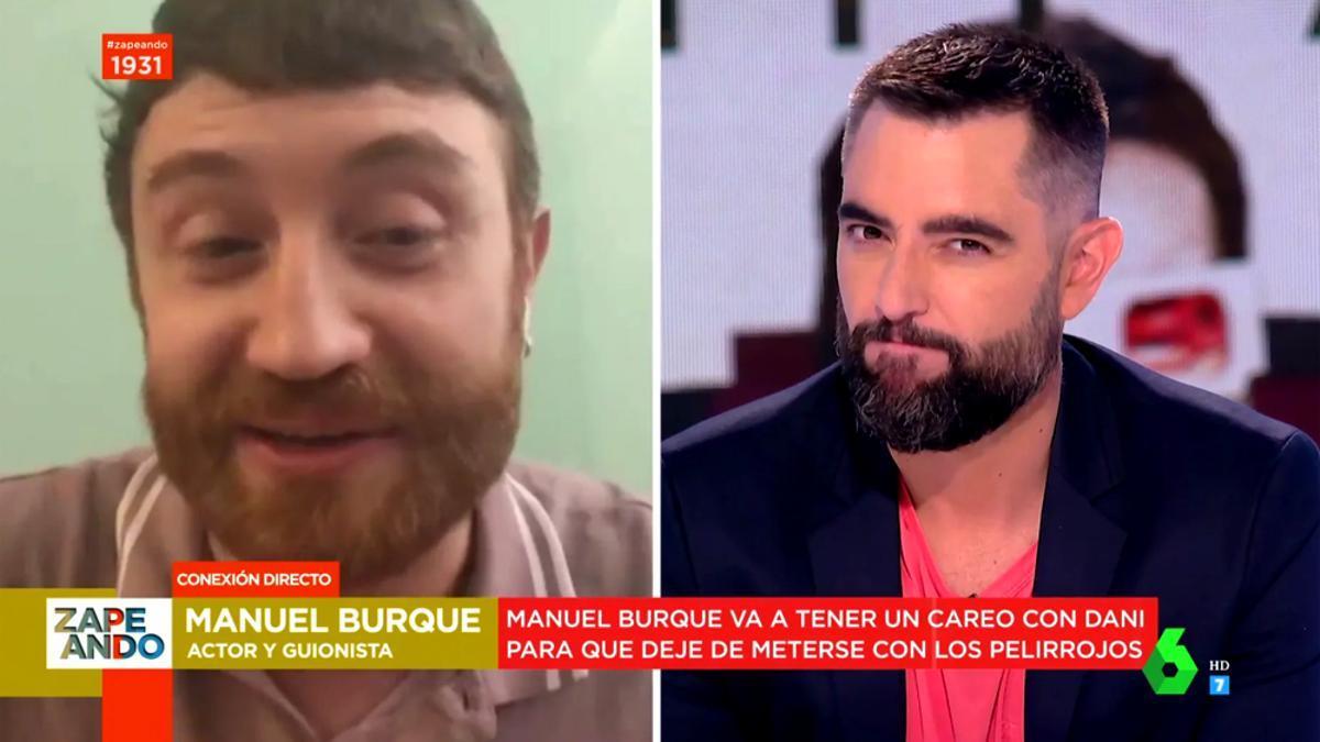 Manuel Burque y Dani Mateo, en 'Zapeando'
