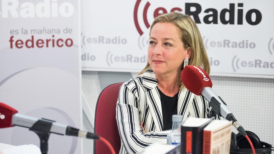 Ana Oramas, durante su intervención de este viernes en el programa de Federico Jiménez Losantos. ESRADIO