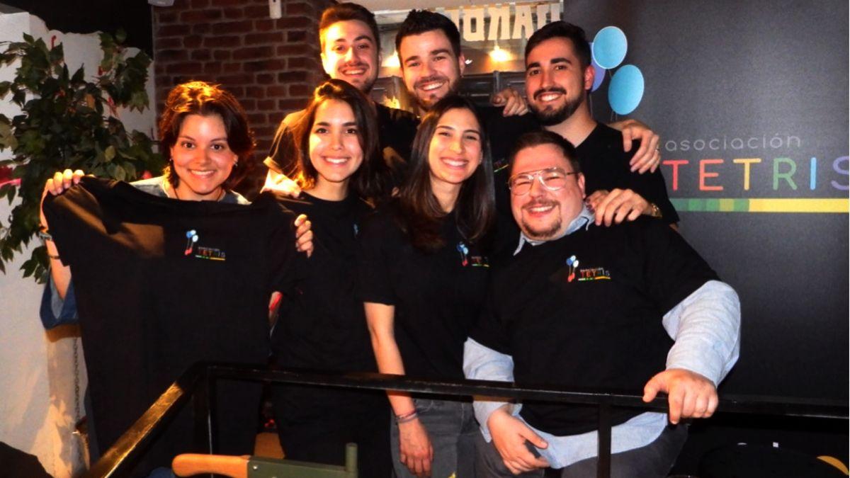 Parte del equipo de la Asociación Tetris en el acto de presentación de la entidad   ASOCIACIÓN TETRIS