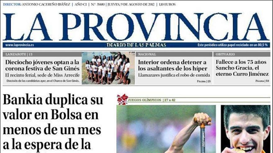 De las portadas del día (09/08/2012) #1