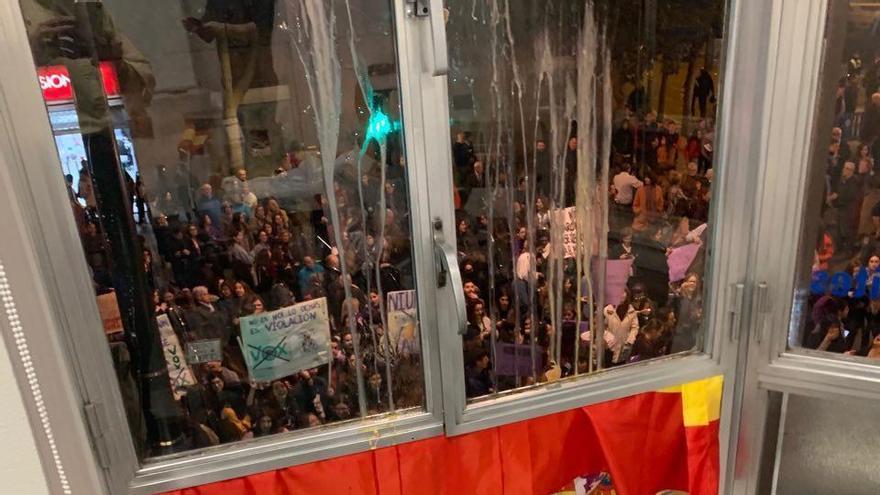 La sede de Vox en la Gran Vía de Murcia el pasado 8 de marzo