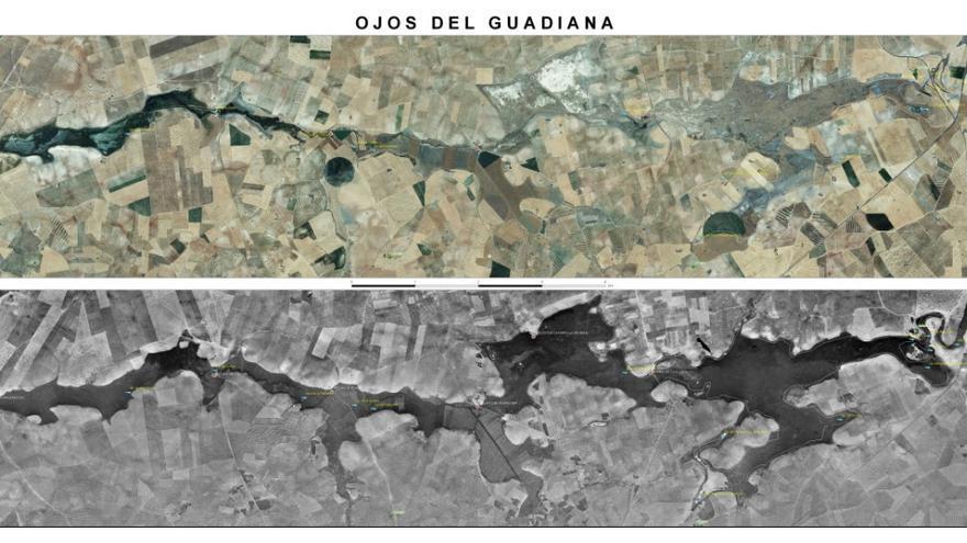 Evolución del río Guadiana