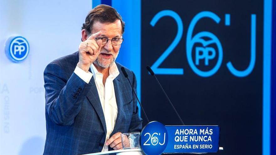 El presidente del Gobierno en funciones y del PP, Mariano Rajoy