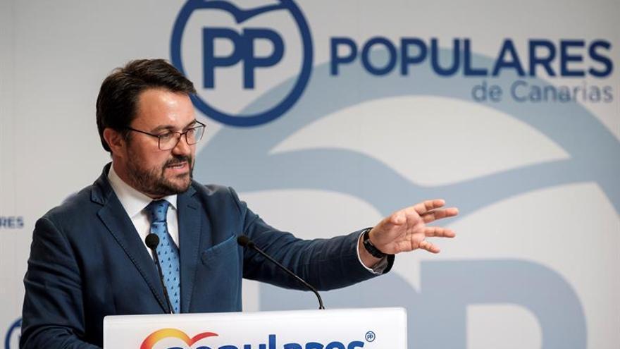 El presidente del PP en Canarias, Asier Antona