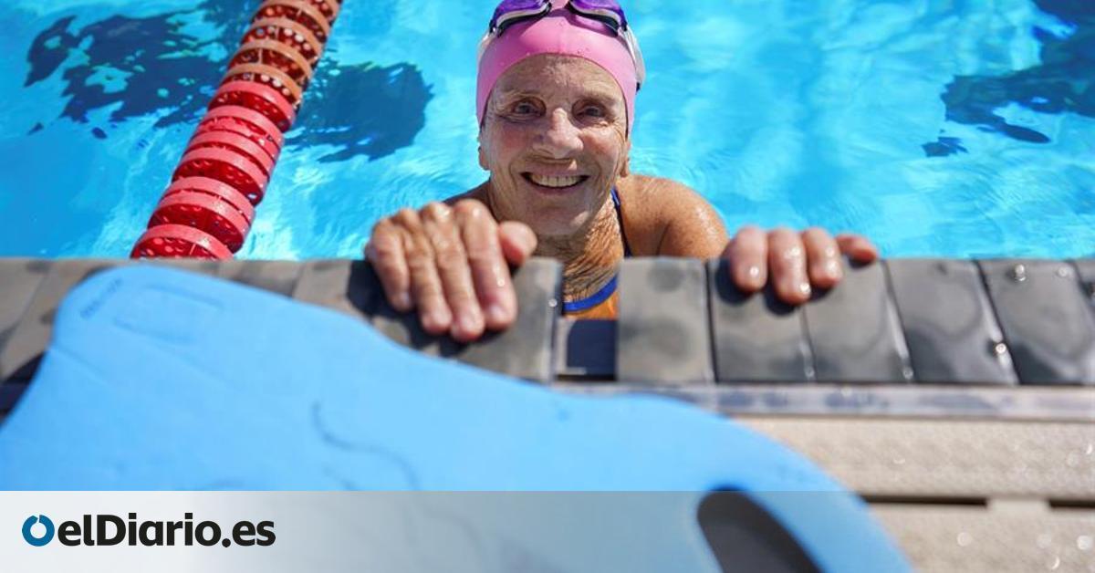 La canaria Mercedes Rodríguez, la primera mujer con más de 80 años en completar los 1.500 metros libres