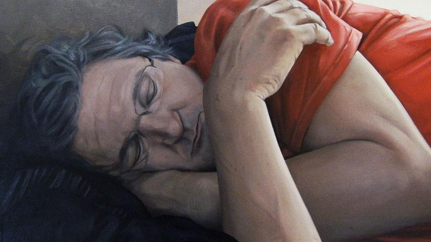 Hombre durmiendo. (Fernando Oliver).