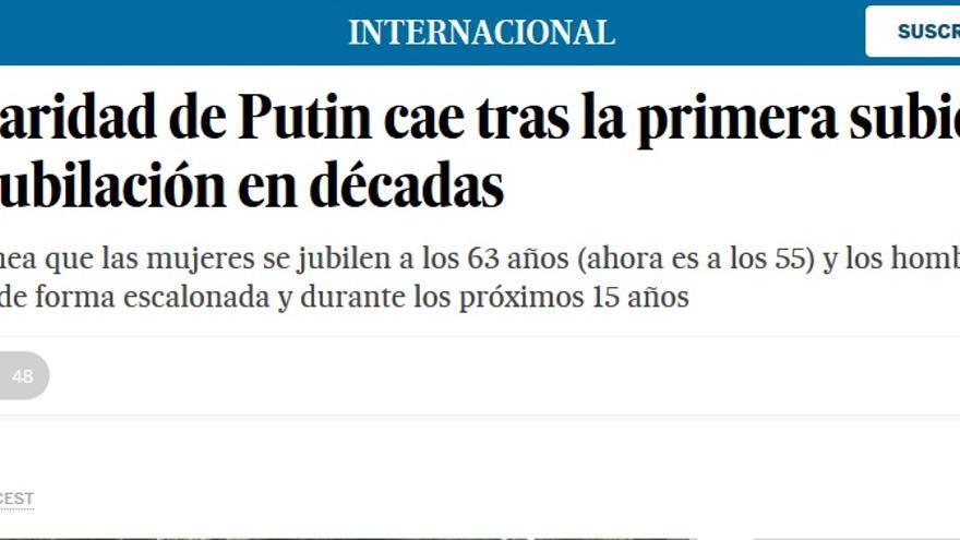 Jubilación Putin